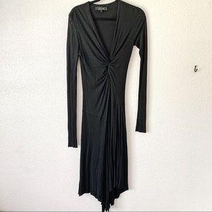 Isabel Marant Black Rouche Maxi Dress